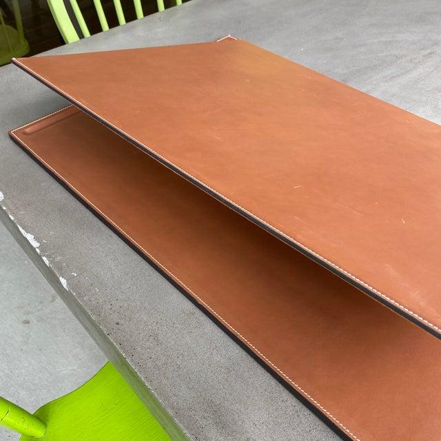 Modern Ralph Lauren Brennan Leather Desk Blotter For Sale - Image 3 of 12