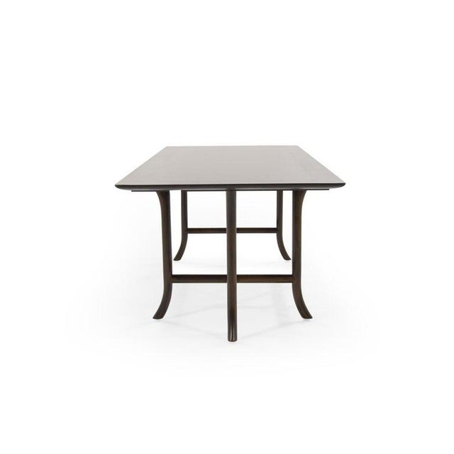 Mid-Century Modern T.H. Robsjohn-Gibbings Walnut Sabre Leg Coffee Table C. 1956 For Sale - Image 3 of 11