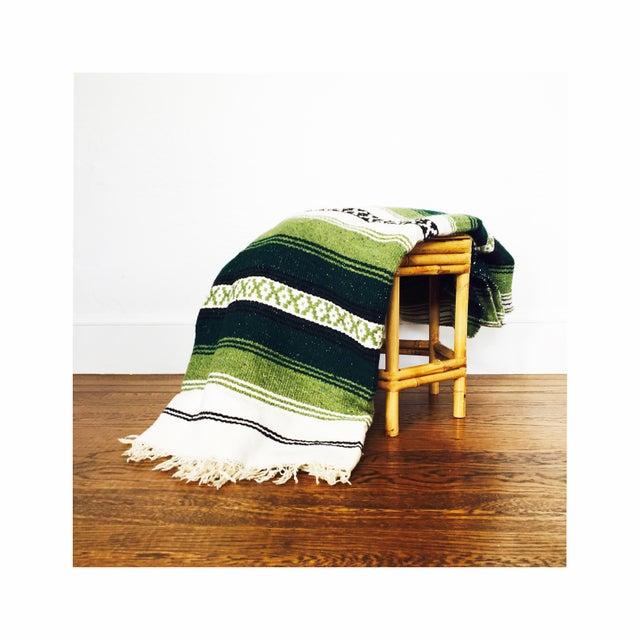 Vintage Mexican Saltillo Blanket - Image 5 of 5