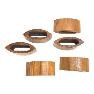Mid-Century Modern Teak Napkin Rings - Set of 6 For Sale