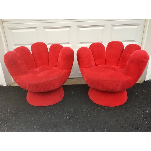 Vintage Contemporary Red Hand Chair- a Pair For Sale - Image 11 of 11