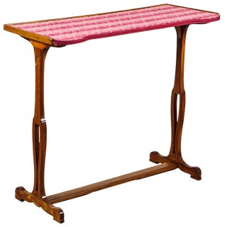 Napoleon III Sewing Table With Cut Velvet Top For Sale