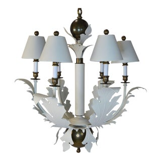 1980s Hart Scrolled Leaf Chandelier For Sale