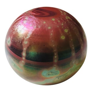 Vintage R C Iridescent Burgundy Paperweight For Sale