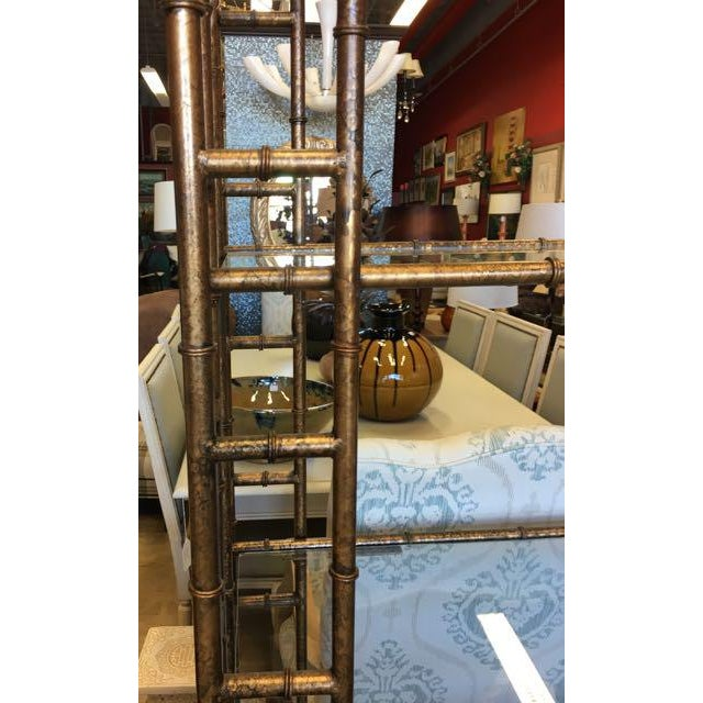 Mid-Century Modern Brass Faux Bamboo Etagere For Sale In Tampa - Image 6 of 10