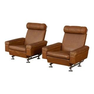 Pair of Illum Wikkelsø High-Backed Lounge Chairs for Ryesberg Møbler For Sale