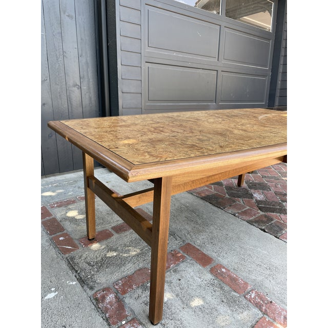 Mid-Century Modern Vintage Monteverdi Young Burlwood Dining Table For Sale - Image 3 of 8