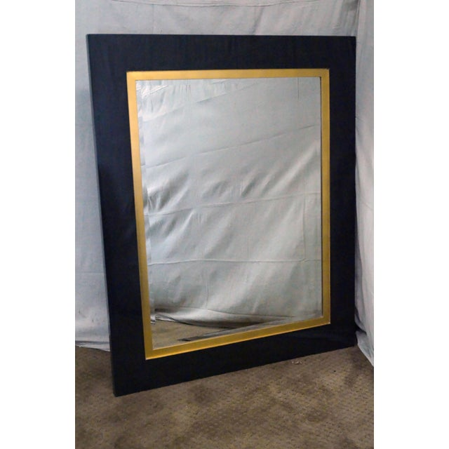 """Jonathan Charles Alexander Julian Collection """"Homespun"""" Gilt Accent Beveled Mirror AGE/COUNTRY OF ORIGIN: Unknown, Asia..."""