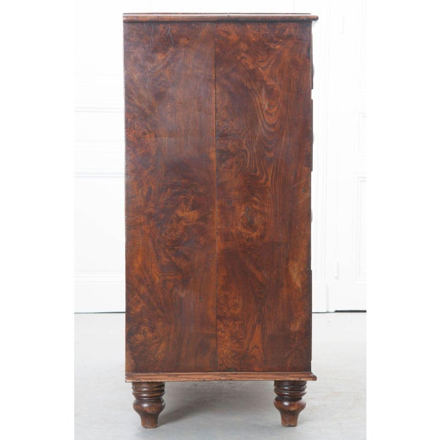 Brown English Early 19th Century Burl Oak Chest of Drawers For Sale - Image 8 of 10