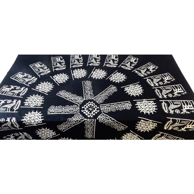 Boho Chic Turkish Cloth Tokat Yazma Throw or Tablecloth For Sale - Image 3 of 6