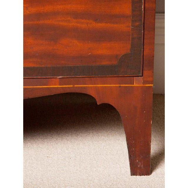 Brown Fine George III Mahogany and Rosewood Linen Press For Sale - Image 8 of 10