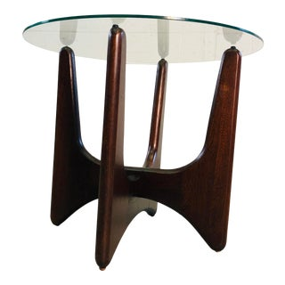 1960s Adrian Pearsall Glass Top Side Table For Sale