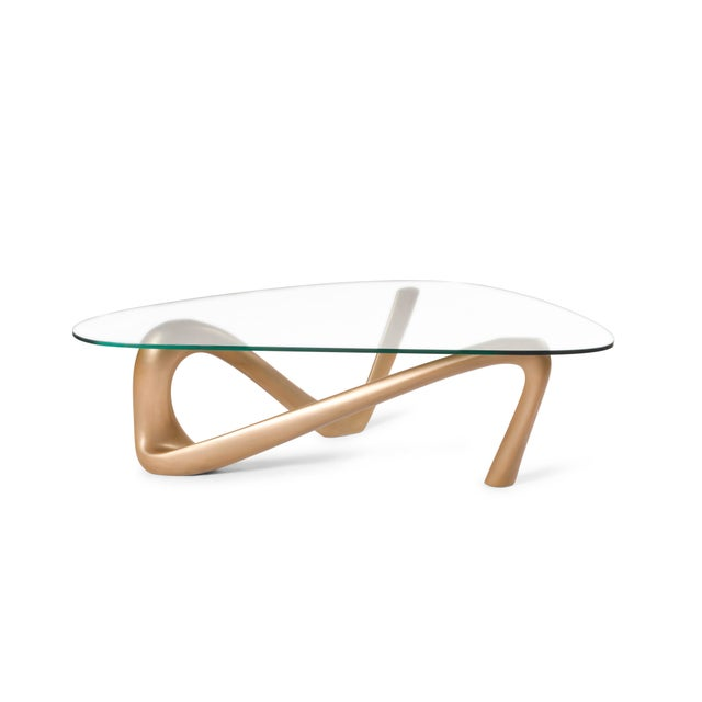 Not Yet Made - Made To Order Amorph Iris Coffee Table - Gold Finish For Sale - Image 5 of 9