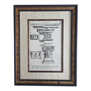Classical Elements of Architecture Print Plate #33 For Sale