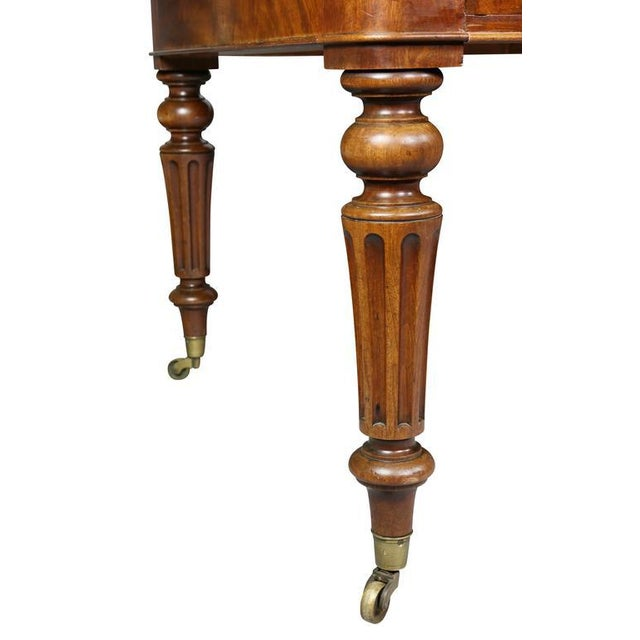 William IV Mahogany Writing Table or Desk For Sale In Boston - Image 6 of 10
