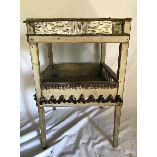 Adirondack Plant Stand or Side Table For Sale - Image 4 of 13