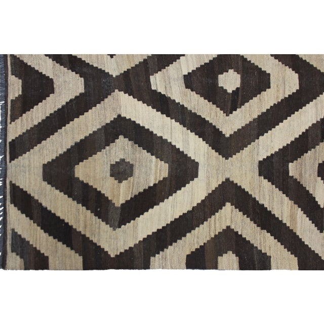"""Aara Rugs Inc. Hand Knotted Modern Kilim - 6'11"""" X 8'3"""" For Sale - Image 4 of 5"""