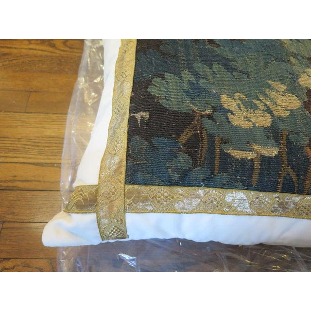 Holly Hunt 18th Century Verdure Tapestry Pillow For Sale - Image 4 of 8