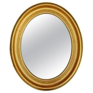 Gilt Oval Frame Mirror For Sale