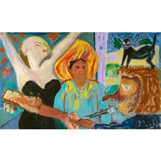"""The Musician, the Big Easy"" Painting by Regina Gately For Sale"