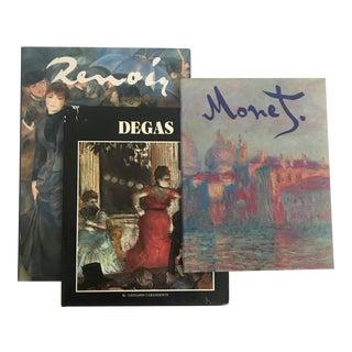 Impressionist Masters (Renoir, Monet, Degas) Art Books - Set of 3 For Sale