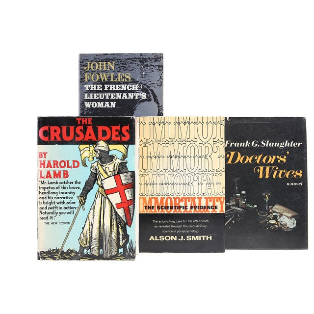 Midcentury Dustjacket Mix, S/30. Thirty midcentury era books in dominant shades of black, each housed in original...