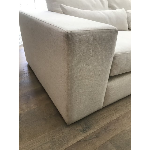 White White L-Shaped Sectional Sofa For Sale - Image 8 of 13