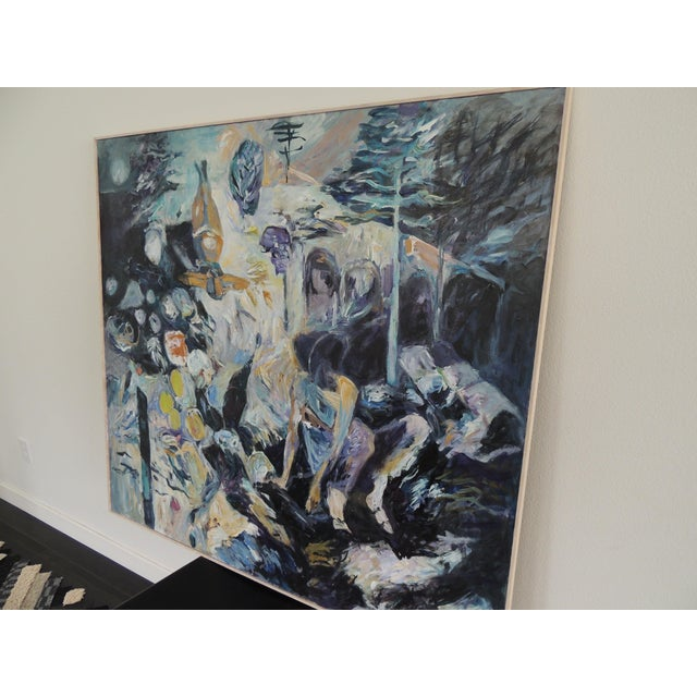 1990s Large Modern Abstract Painting on Board. For Sale - Image 5 of 9