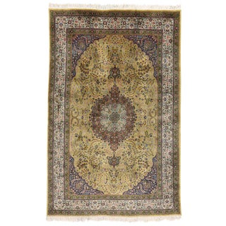 20th Century Persian Tabriz Area Rug - 6′5″ × 10′ For Sale
