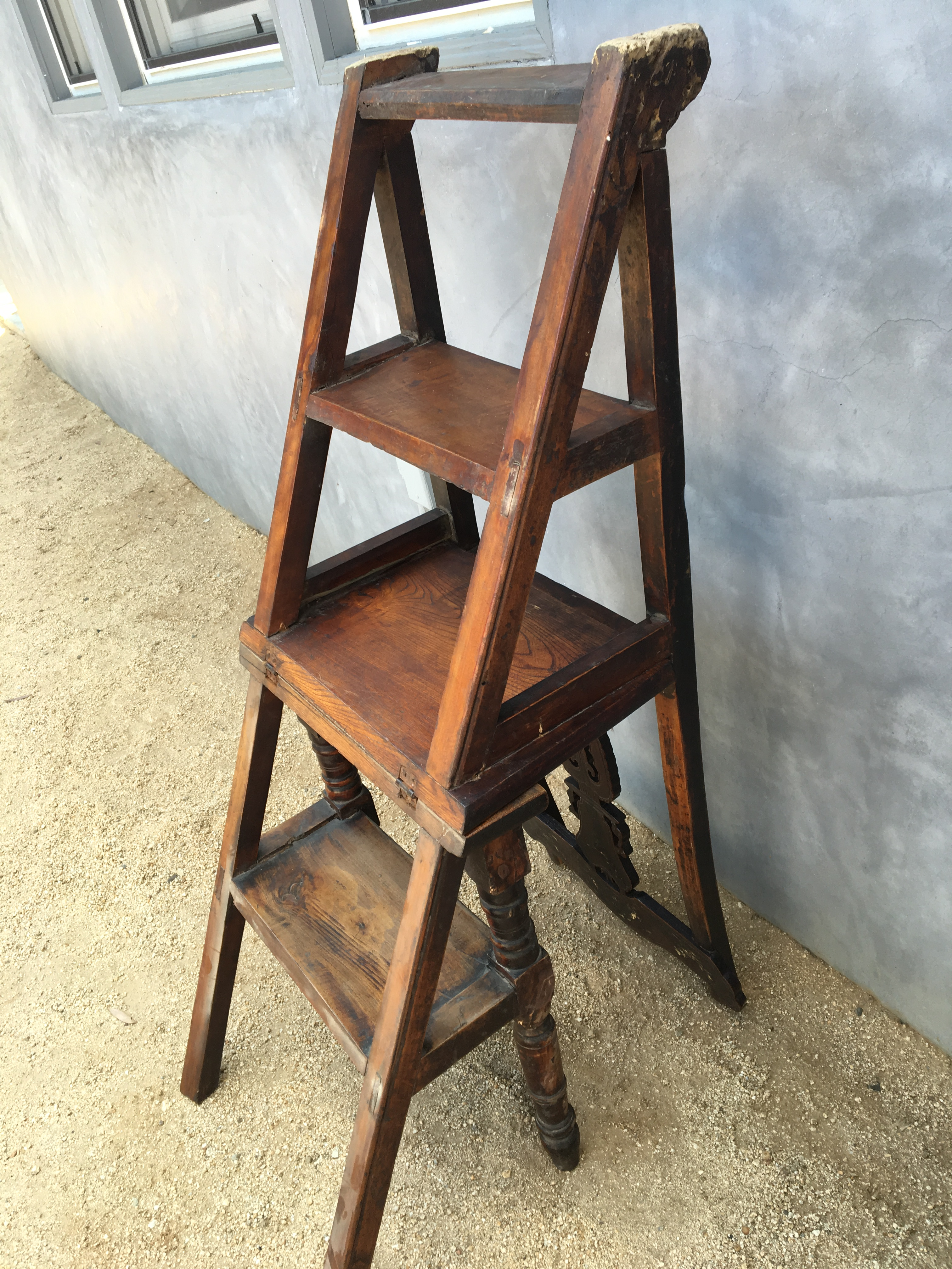 Chinese Library Ladder Chair   Image 6 Of 8