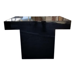 Thayer Coggin Black Laminate End Table For Sale