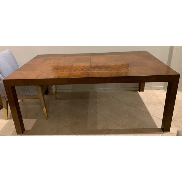 Henredon Traditional Bel Air Parson's Dining Table For Sale - Image 4 of 5