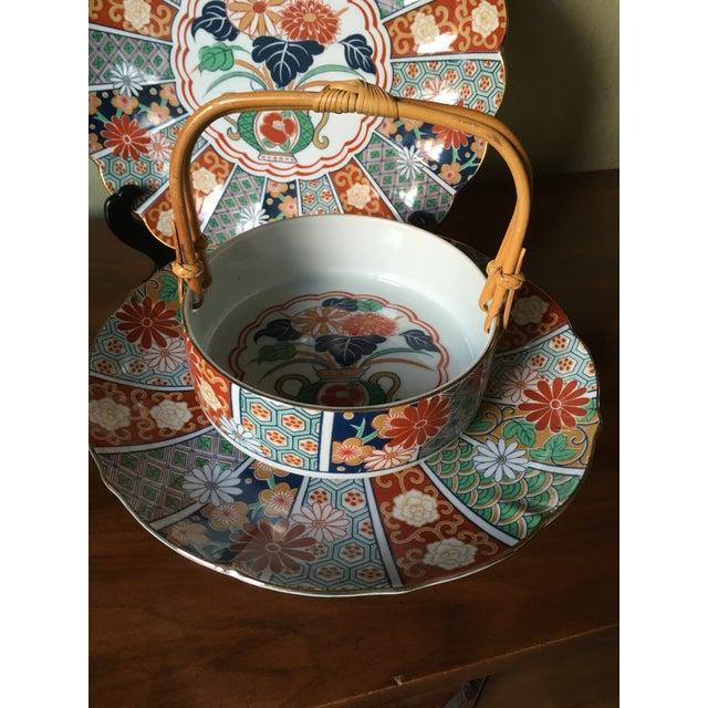 Japanese Imari Porcelain Serving Dishes - Set of 3 For Sale - Image 9 of 13
