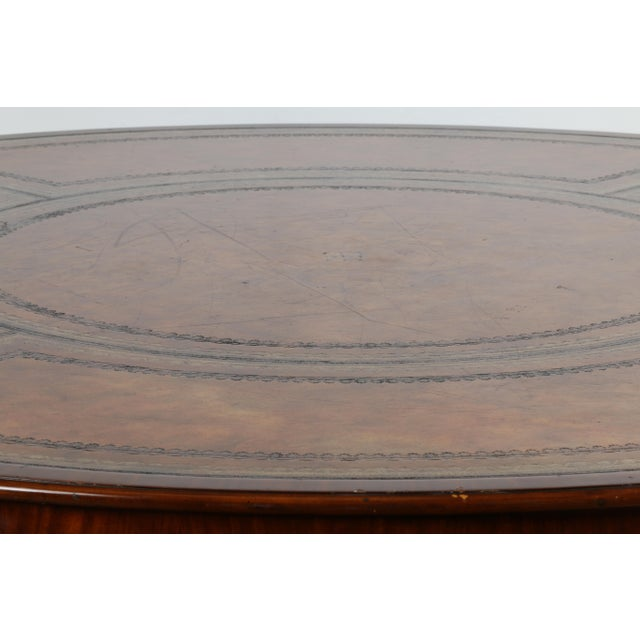 Large Maitland Smith Round Dining Table For Sale - Image 12 of 13