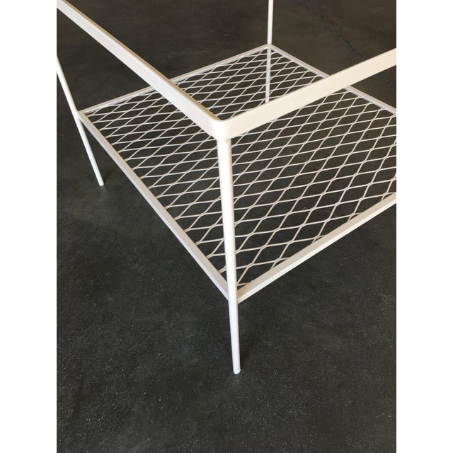 Woodard Furniture Co. Iron and Mesh Low with Glass Top Outdoor/Patio Cube Coffee Table by Woodard For Sale - Image 4 of 6