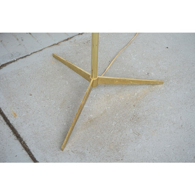 Vintage Mid-Century Paul McCobb Style Brass Floor Lamp Table For Sale In Birmingham - Image 6 of 11