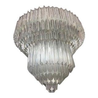Art Deco Murano Glass Quadriedo Chandelier
