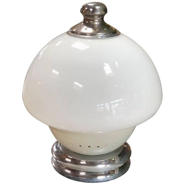 Chrome Italian, 1960s Double White Orb For Sale - Image 7 of 7