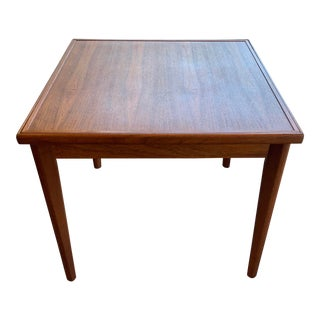 1960s Mid-Century Modern Danish Teak Card Table With Reversible Top For Sale
