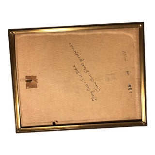 Vintage Gold Metal Picture Frame For Sale