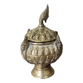 Late 19th Century Thai Buddhist Gilt Bronze Khan Nam Montr Holy Water Bowl For Sale