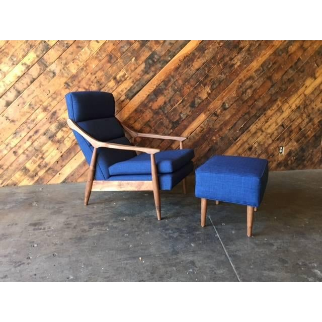 Not Yet Made - Made To Order CUSTOM MID CENTURY LOUNGE CHAIR WITH OTTOMAN For Sale - Image 5 of 6