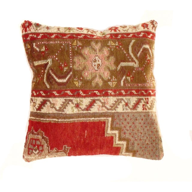 Pasargad Vintage Hand Knotted Rug Pillow For Sale