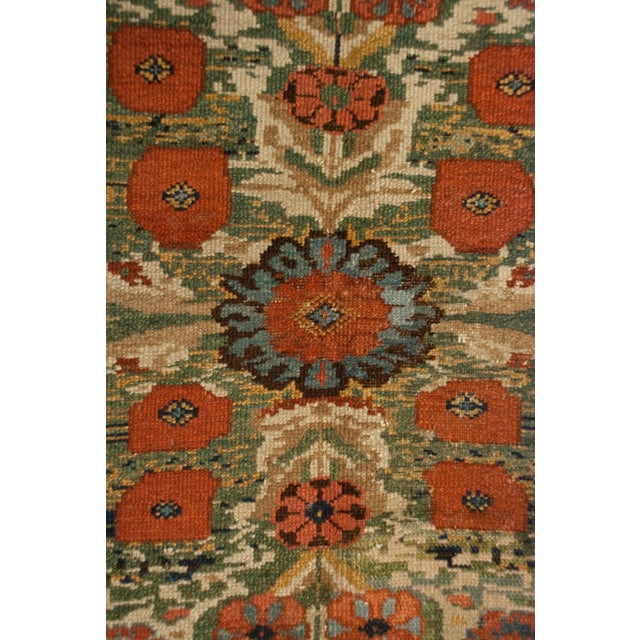 A beautifully woven, exceptional quality, early 20th century Bakhtiari Mission Malayer runner with three large-scale...