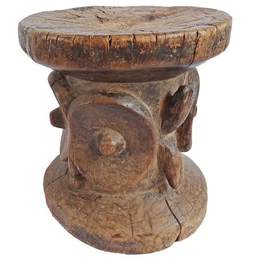 Bembe Carved Tribal Stool