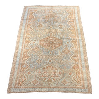 Early 20th Century Antique Qashqai Persian Area Rug - 5′4″ × 8′8″ For Sale