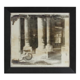 """Palais Royal"" Paris, France Photo Emulsion Print, Circa 1970s For Sale"