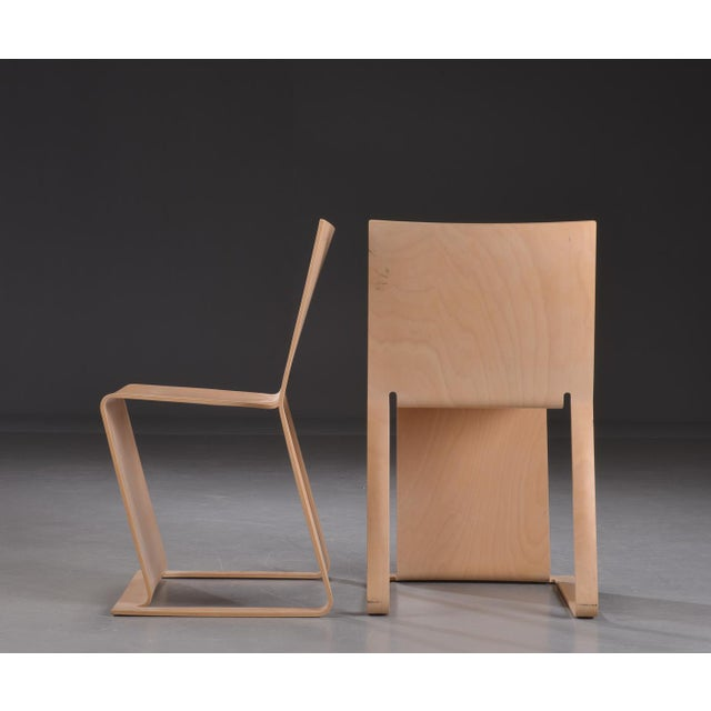 Mid-Century Modern Swedish lForm Stacked Chairs - Set of 3 For Sale - Image 3 of 6