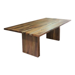 Contemporary Andre Twin-Pedestal Table in Argentine Rosewood, Customizable