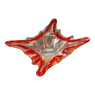 1950s Murano Mid-Century Red Bowl For Sale